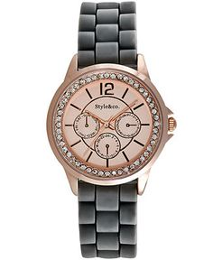 Style&co. Watch, Women's Grey Silicone Strap 33mm SC1398 - Women's Watches - Jewelry & Watches - Macy's