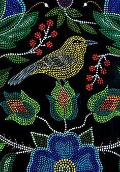 Metis art, Batoche, Saskatchewan - not beads, but they could be. Dot Art Painting, Mandala Painting, Stone Painting, Native Beadwork, Native American Beadwork, Tattoo Men Small, Mandalas Drawing, Mandala Dots, Indigenous Art