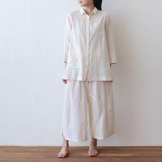 オーガニックコットンパジャマシャツ - NADELL ONLINE SHOP
