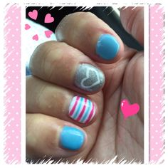 Jan nails ☺️ #blue #pink
