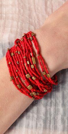 multi-strand seed bead bracelet