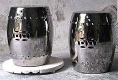 Silver lustre stools