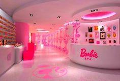 "An actual ""Barbie"" salOn. wOrds cannOt describe the lOve. Barbie Room, Barbie Life, Barbie Dream House, Barbie World, Pink Barbie, Dream Rooms, Dream Bedroom, Kids Salon, Kids Spa"