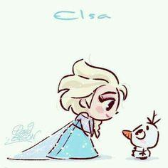 Elsa Chibi in Disney Frozen❗️🔅🔆🔅 Disney Pixar, Disney E Dreamworks, Disney Films, Disney Animation, Disney Cartoons, Disney Art, Disney Characters, Disney Princesses, Funny Disney