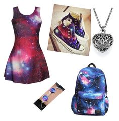 """Galaxy"" by sh-armacost ❤ liked on Polyvore featuring Converse"