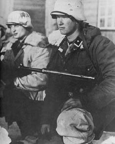 Waffen-SS soldiers at the Second Battle of Kharkov, May, 1942.