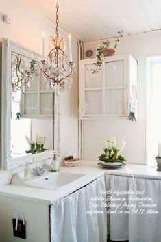 Simple Badezimmer Shabby Chic