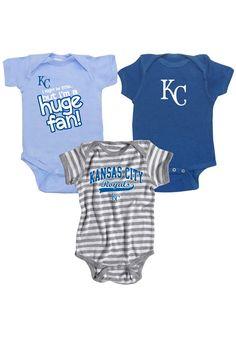 Kansas City Royals Baby Creeper Set - Team Color KC Royals 3-Pack Creeper Set http://www.rallyhouse.com/mlb/al/kansas-city-royals/a/baby?utm_source=pinterest&utm_medium=social&utm_campaign=Pinterest-KCRoyals $34.99