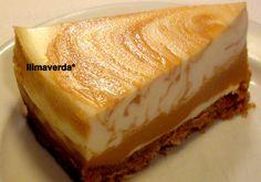 pastel de queso y dulce de leche