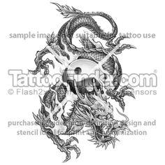 tattoo drawings | Yin Yang Dragon Tiger Tattoo Drawing | tattoo ...