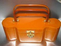 vintage Myles lucite purse | MYLES ORIGINALS Lucite Bakelite Purse