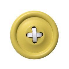 Knoophaak - kapstok HKliving geel 13 cm
