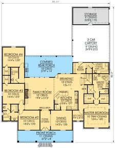 Spacious Southern Home Plan - 56347SM | 1st Floor Master Suite, Acadian, Bonus Room, Butler Walk-in Pantry, Den-Office-Library-Study, European, French Country, Jack & Jill Bath, PDF, Photo Gallery, Southern, Split Bedrooms | Architectural Designs