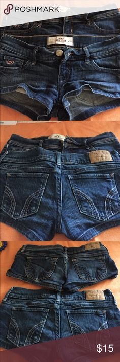 Two hollister Jean shorts Price is for two made in china and made in Guatemala Hollister Shorts Jean Shorts