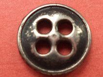 10 Metallknöpfe silber 11mm (6112-34x)Knopf Metall