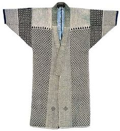 sashiko no donza fisherman's coat- japan - Moldes Moda Japanese Textiles, Japanese Kimono, Japanese Fashion, Sashiko Embroidery, Japanese Embroidery, Kimono Fashion, Boho Fashion, Moda Kimono, Mode Cool