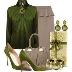 Green and Beige combination