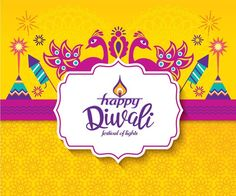 Illustration about Diwali Hindu festival greeting card with modern elements. Illustration of deepavali, firecrackers, poster - 96436897 Halloween Sayings For Cards, Christmas Card Sayings, Christmas Messages, Halloween Images, Diwali Greetings Images, Happy Diwali Pictures, Happy Diwali Wallpapers, Christmas Facebook Cover, For Facebook