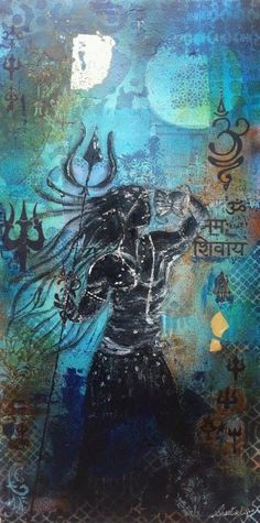 A Unique Painting Depicting Lord Shiva By Our Eminent Artist Sheetal Singh On