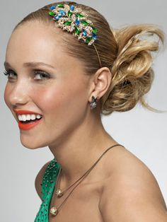 The right headband can make your prom updo totally unique!
