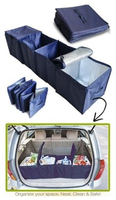 #VehicleCompartmentStorage works for just about any vehicle, small or big, but it's ideal for vans and SUVs. The two end compartments are insulated for food storage– great for groceries or transporting party food!