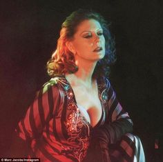 Striking a pose: Susan Sarandon joins a host of other celebrities in theMarc Jacobs Fall 2016 ad campaign, showing off her impressive cleavage in a plunging dress