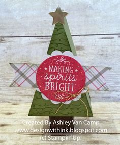 Design With Ink: November Club Project...It's a Cutie Pie! Stampin' Up! Christmas Box, Cutie Pie Thinlits, Among the Branches Stamp Set, Christmas