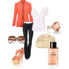 coral, created by lauraemilyb on Polyvore