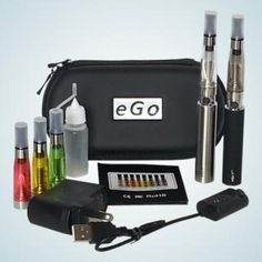eGo-T 1300mAh Deluxe Double Battery Electronic Cigarette Starter Kit with CE4 Clearomizers http://www.gosmokelessnow.com/store/ego-starter-kits.html