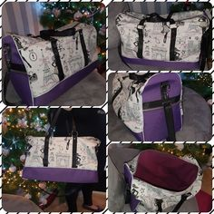 Sac Boston violet Paris cousu par Sabrina - Patron sac week-end Sacôtin