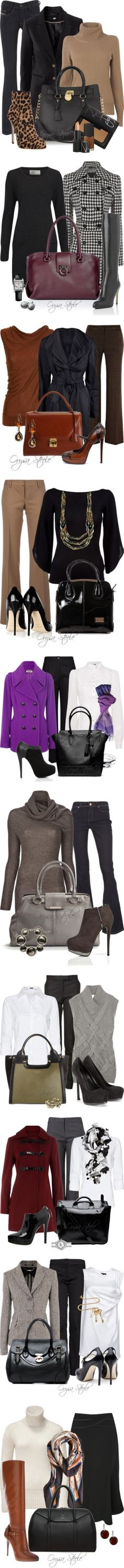"""Dressed Up for Fall"" by orysa on Polyvore  If I only had some place to go to that required me getting dressed up... -M"