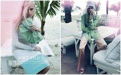 """""""Soft Times""""  A loiríssima Sarah Jordan foi a estrela do editorial da  Elle Canadá, maio 2012, clicado por Leda & St. Jacques."""