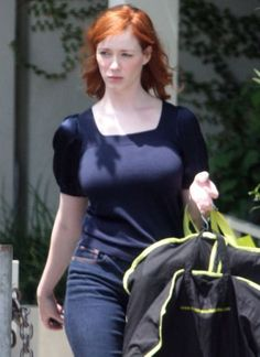 Christina Hendricks Bikini Images | Sexy Photo of Huge Boobs
