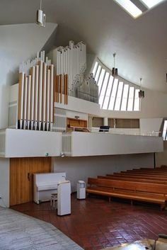 Church of the Three Crosses (Vuoksennikska Church) in Imatra Once again a new site from Finland and a new city . Alvar Aalto, Little Brown, Finland, Facade, Architecture, Contemporary, Modernism, House, Musical Instruments
