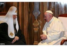 Abbey Roads: The Pope and the Patriarch... DOES ANYONE NOTICE THE SCULL AND CROSSBONES IN THIS MEETING!... WHO BELIEVES THESE MEN ARE MEN OF GOD???? DON'T THINK SO! ... FEB 12 2016
