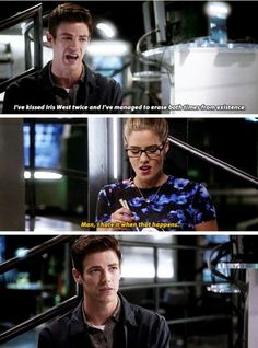 """""""I've kissed Iris West twice and I've managed to erase both times from existence"""" - The ultimate flash paradox Superhero Shows, Superhero Memes, The Cw Shows, Dc Tv Shows, Netflix, Arrow Memes, Arrow Funny, Arrow Tv, The Arrow"""