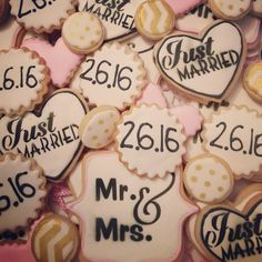 Wedding cookies! #frostedseductions
