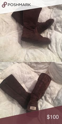 UGG boot! Super comfortable and easy zipper. Tall UGG boots, very warm and comfortable! Only worn a couple of times! UGG Shoes Winter & Rain Boots