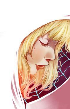 "Gwen Stacy - ""Spidergwen"" Print by KikiJenkinsArt on Etsy https://www.etsy.com/listing/236396347/gwen-stacy-spidergwen-print"