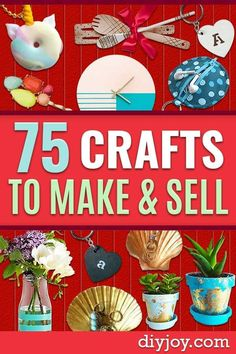 Crafts to Sell - List of top sellers for Etsy Shops, best selling DIY gift ideas to make and sell - most profitable crafts you can sell for money Crafts To Make And Sell Easy, Easy Diy Crafts, Crafts For Kids, Cool Things To Make, Things To Sell, Diy Ideas, Craft Ideas, Easy Craft Projects, Diy Christmas Gifts