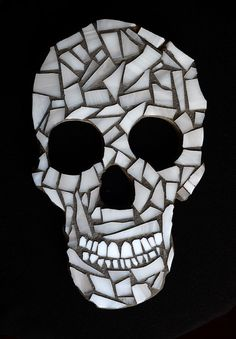 Stained Glass Mosaic Skull by thewindycity312 on Etsy, $85.00