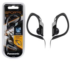Panasonic In Ear Clip Type Water Resistant Sports Gym Headphones - Black Bluetooth Stereo Headset, Wireless Headphones, Sport Earbuds, Sports Headphones, Compact, Headphone With Mic, Black Water, Music