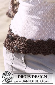 Ravelry: 95-16 b - Belt in Paris and Cotton Viscose pattern by DROPS design