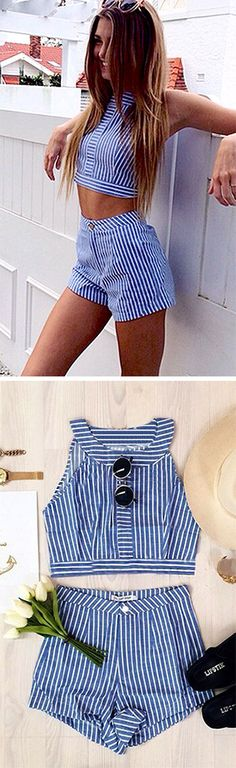 Feel exhausted to go matchy matchy? Well, let this striped matching sets from CUPSHE.com help you out right away!