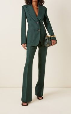 Women's Designer Jackets | Moda Operandi Suit Fashion, Work Fashion, Fashion Outfits, Fashion Design, Tailored Fashion, Pants For Women, Clothes For Women, Women In Suits, Business Suits For Women