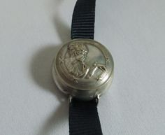 1920s Silver Compact Bracelet, Flapper Era Figural Wrist Compact , Signed Valdes, Extremely Rare