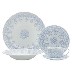 Cashmere Charming Bluebells 20-Piece Dinner Set by Maxwell & Williams
