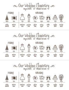 Chronologie de mariageFichier numérique imprimable par pompcreative