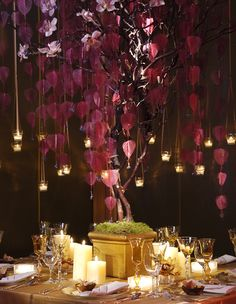 Tall Autumn Wedding Floral Centerpiece Inspiration on Andre Winfrye Events