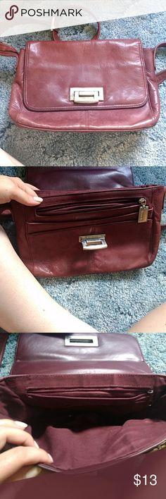 Tignangello Leather Bag Vintage, multiple pockets, secure fastener, adjustable strap Tignanello Bags Crossbody Bags
